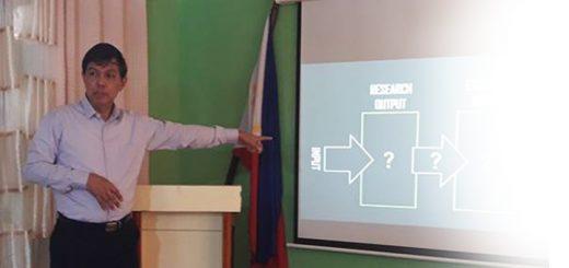 Dr. Sangalang at EVSU and SSU