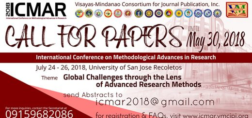 International Conference on Methodological Advances in Research (ICMAR) 2018